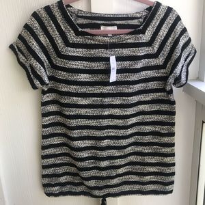 Lou & Gray short sleeve stripe blouse XS NEW wtag